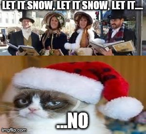 Funny Grumpy Cat Christmas Memes.Image Tagged In Carolers Christmas Memes Grumpy Cat Funny