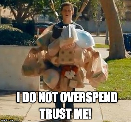 Groceries | I DO NOT OVERSPEND TRUST ME! | image tagged in groceries | made w/ Imgflip meme maker