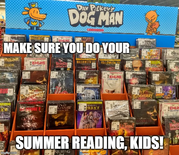 MAKE SURE YOU DO YOUR SUMMER READING, KIDS! | image tagged in dav r u ok | made w/ Imgflip meme maker