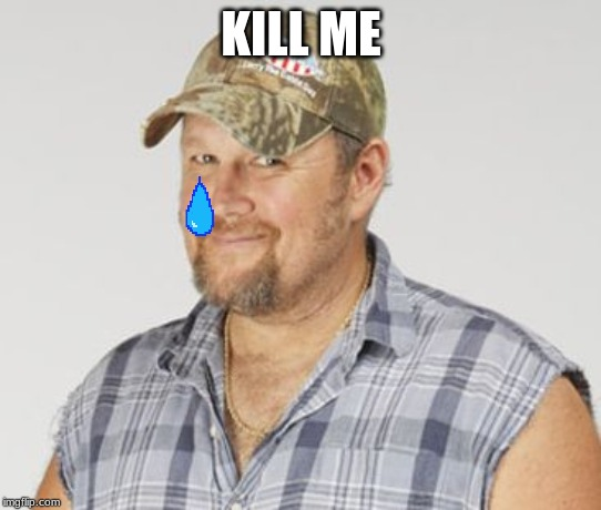 Larry The Cable Guy | KILL ME | image tagged in memes,larry the cable guy | made w/ Imgflip meme maker