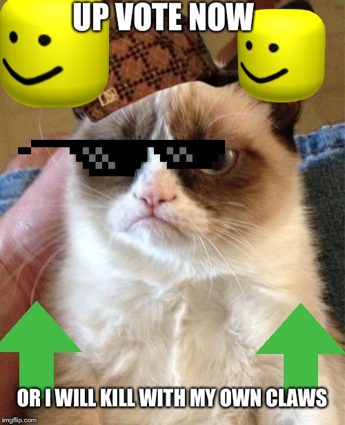 Grumpy Cat | UP VOTE NOW OR I WILL KILL WITH MY OWN CLAWS | image tagged in memes,grumpy cat | made w/ Imgflip meme maker