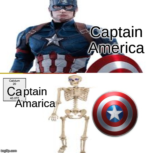 CAptain America | Captain America ptain Amarica | image tagged in spooktober,captain america | made w/ Imgflip meme maker