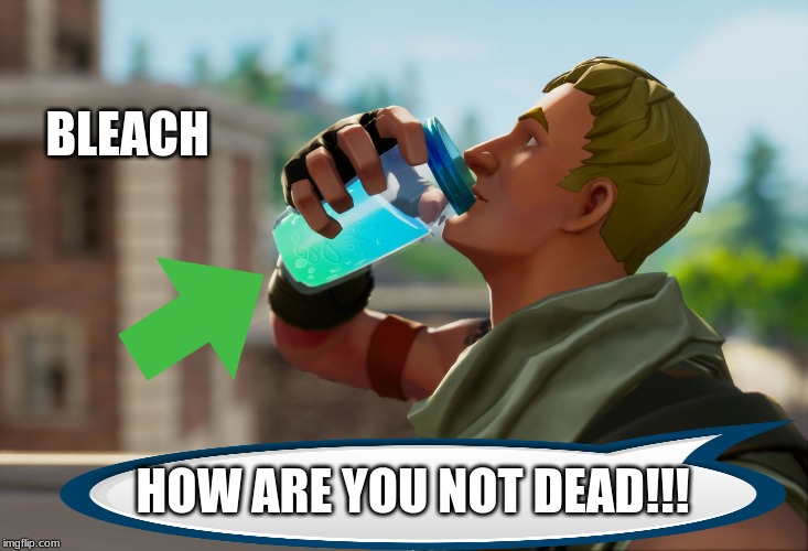 #BLEACH |  BLEACH; HOW ARE YOU NOT DEAD!!! | image tagged in fortnite the frog | made w/ Imgflip meme maker