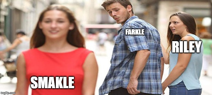 love triangle | FARKLE SMAKLE RILEY | image tagged in love triangle | made w/ Imgflip meme maker