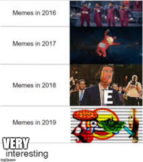 meme then vs meme now | VERY | image tagged in meme comparesion | made w/ Imgflip meme maker