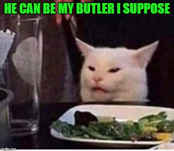 HE CAN BE MY BUTLER I SUPPOSE | made w/ Imgflip meme maker