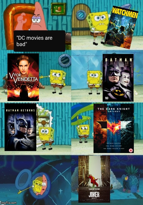 image tagged in spongebob,dc,meme | made w/ Imgflip meme maker