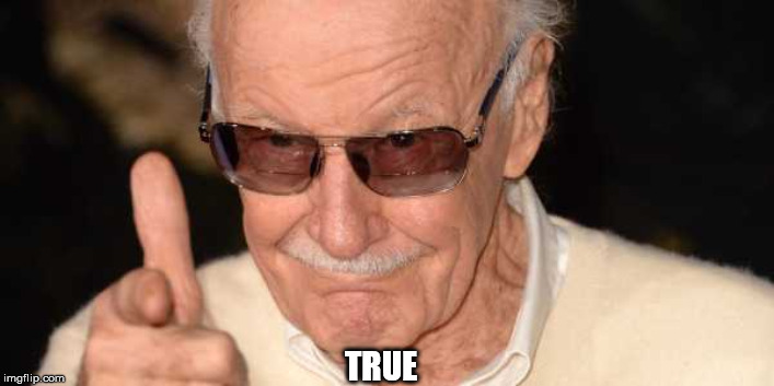 Stan Lee Pointing at you | TRUE | image tagged in stan lee pointing at you | made w/ Imgflip meme maker