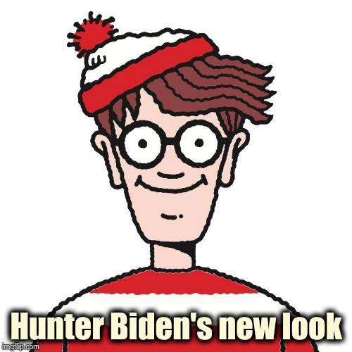 He's even creepier in real life |  Hunter Biden's new look | image tagged in where's waldo,biden,bite me,creepy joe biden,look son,extortion | made w/ Imgflip meme maker