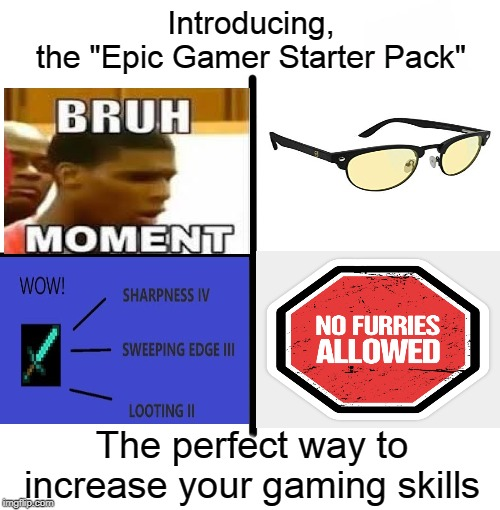 "You will become a epic gamer in no time! | Introducing,the ""Epic Gamer Starter Pack"" The perfect way to increase your gaming skills 