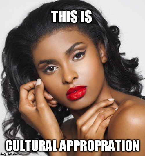 THIS IS CULTURAL APPROPRATION | image tagged in ha | made w/ Imgflip meme maker
