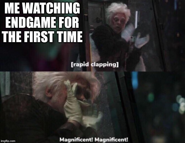 Magnificent! |  ME WATCHING ENDGAME FOR THE FIRST TIME | image tagged in magnificent | made w/ Imgflip meme maker