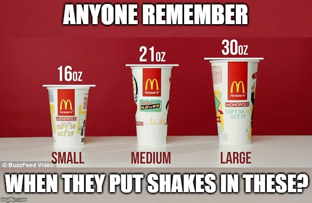 ANYONE REMEMBER WHEN THEY PUT SHAKES IN THESE? | made w/ Imgflip meme maker