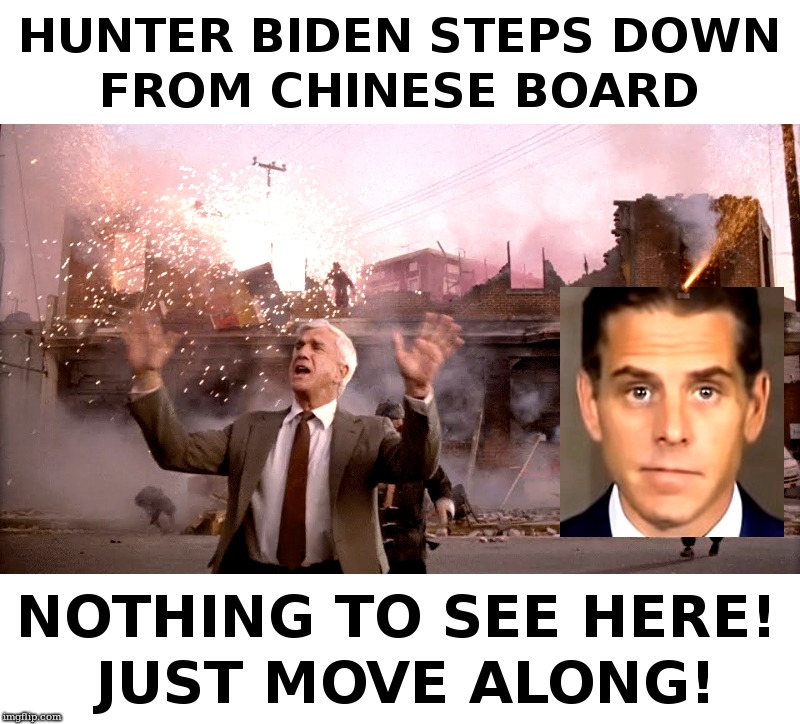 Hunter Biden Steps Down From Chinese Board | image tagged in hunter,biden,joe biden,china,trump,leslie nielsen | made w/ Imgflip meme maker