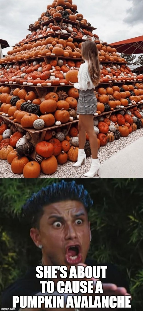 PUMPKIN PYRAMID | YOUR CONTRIBUTION:HOW YOU FEEL HOW WE FEEL | image tagged in memes,dj pauly d,pumpkin,pumpkins | made w/ Imgflip meme maker