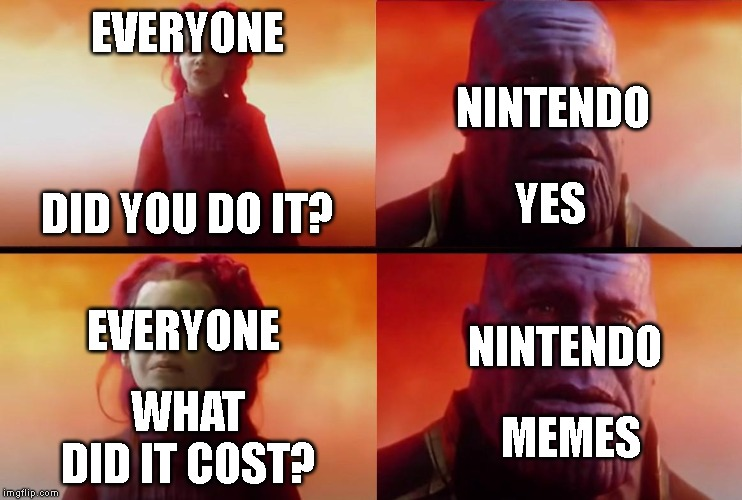 Sans Mii Costume | EVERYONE DID YOU DO IT? NINTENDO YES EVERYONE NINTENDO WHAT DID IT COST? MEMES | image tagged in thanos what did it cost,sans,nintendo | made w/ Imgflip meme maker