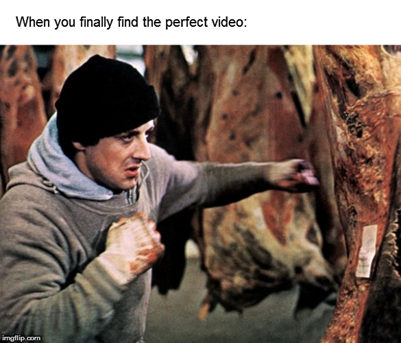 Yo, Adrian! | When you finally find the perfect video: | image tagged in memes,rocky,beating meat | made w/ Imgflip meme maker