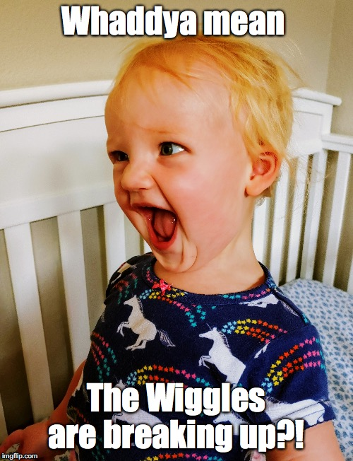 Whaddya mean The Wiggles are breaking up?! | image tagged in baby,angry baby,shocked face | made w/ Imgflip meme maker