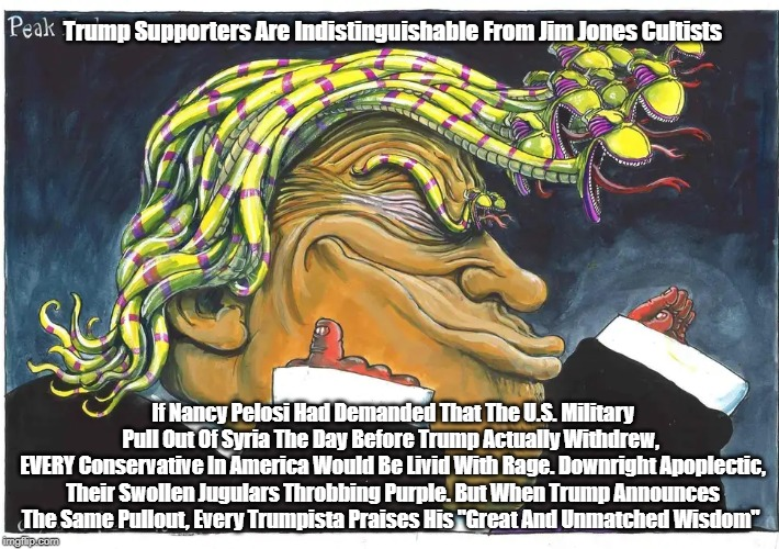 """Trump Supporters Are Indistinguishable From Jim Jones Cultists 