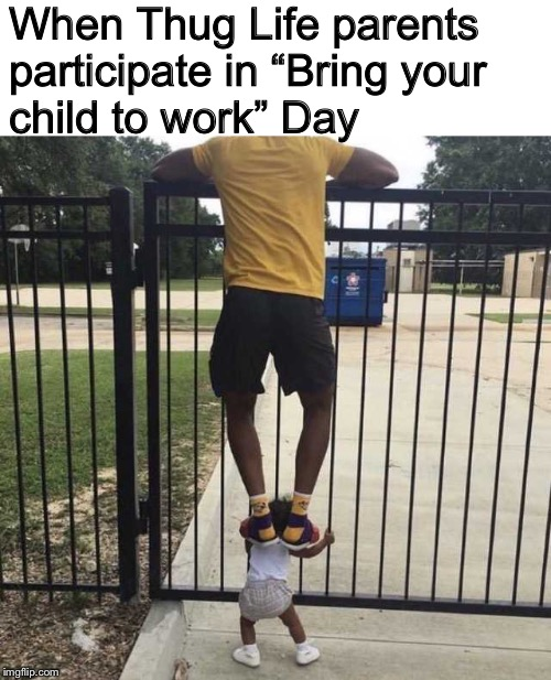 "From Booster Seat to Boosting Cars | When Thug Life parents participate in ""Bring your child to work"" Day 