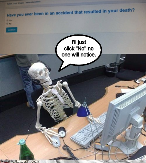 "spooktober memes incoming! | I'll just click ""No"" no one will notice. 