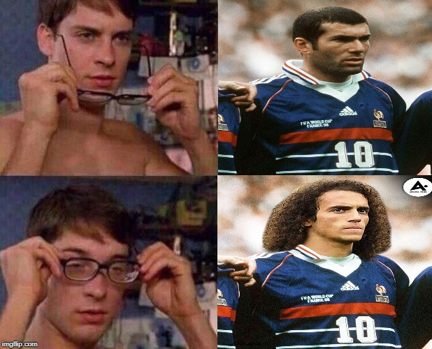 zidane guendouzi meme | image tagged in zidane,guendouzi,arsenal,france | made w/ Imgflip meme maker