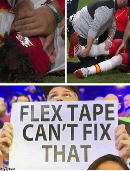 Patrick Mahomes Ma-injury | image tagged in nfl football | made w/ Imgflip meme maker