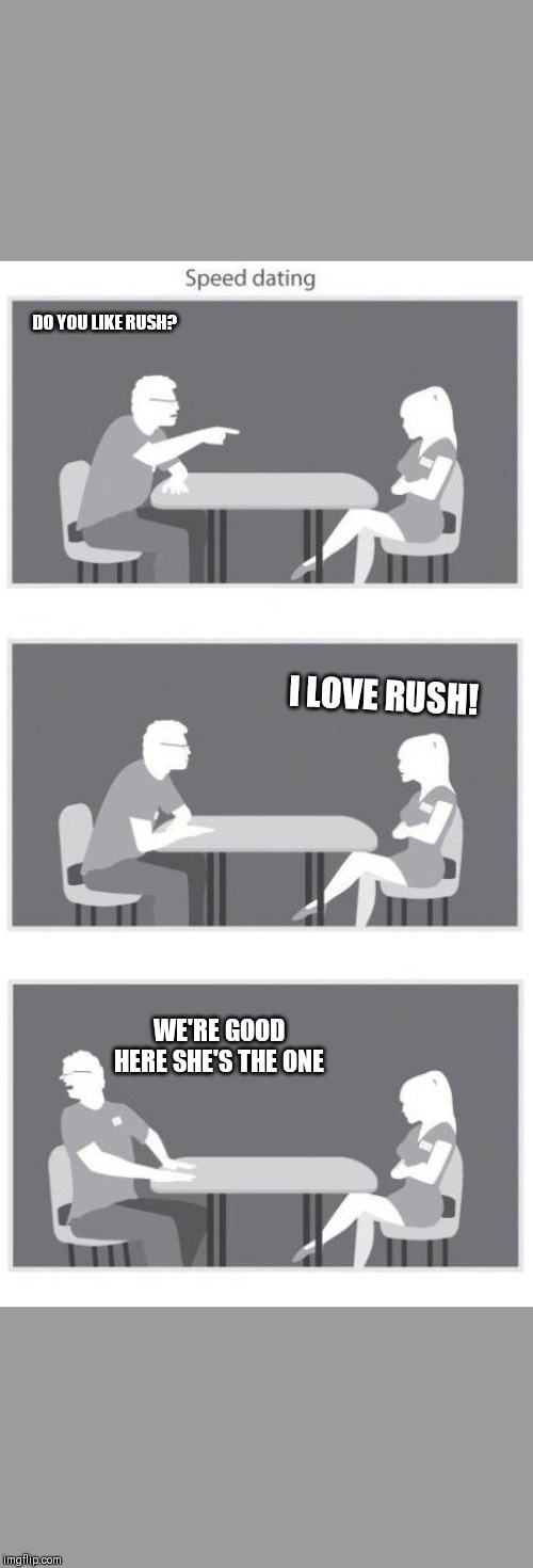 Rush Speed Dating Photographic Print by gameboardpro
