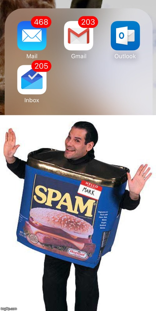 "How spammers use this amount of unread emails to make you say ""WOW!!!"". 