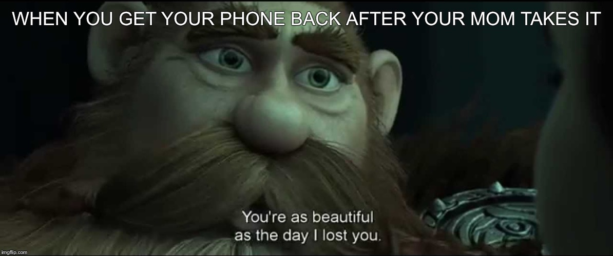You are as beautiful as the day I lost you |  WHEN YOU GET YOUR PHONE BACK AFTER YOUR MOM TAKES IT | image tagged in you are as beautiful as the day i lost you,memes,funny,lol,lmao | made w/ Imgflip meme maker