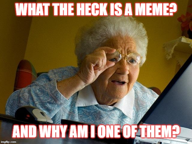 Grandma Finds The Internet |  WHAT THE HECK IS A MEME? AND WHY AM I ONE OF THEM? | image tagged in memes,grandma finds the internet | made w/ Imgflip meme maker