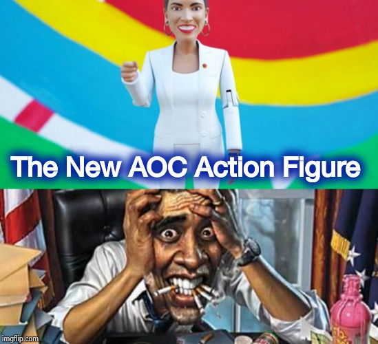 Indoctrinate the children this Christmas | The New AOC Action Figure | image tagged in toys,teacher,socialism,free stuff,y'all got any more of them,free hugs | made w/ Imgflip meme maker
