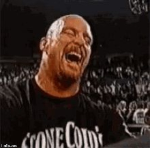 Stone Cold Laughing | image tagged in stone cold laughing | made w/ Imgflip meme maker