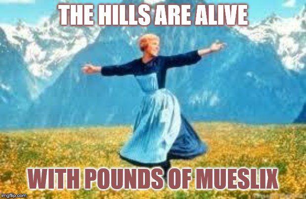 Look At All These | THE HILLS ARE ALIVE WITH POUNDS OF MUESLIX | image tagged in memes,look at all these,funny memes,fun | made w/ Imgflip meme maker