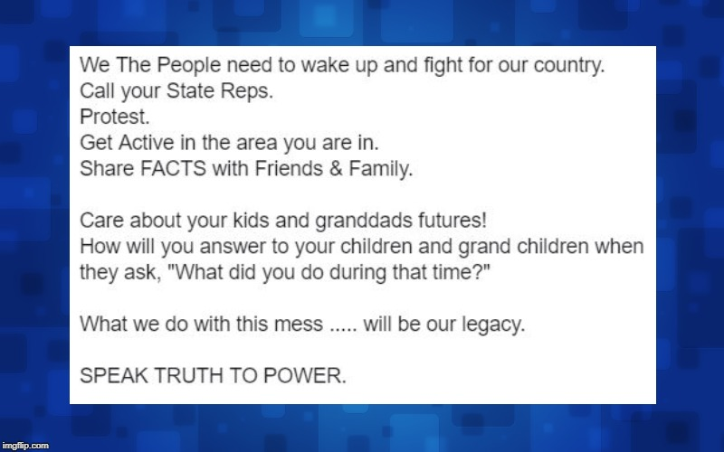 Speak Truth To Power NOW for our Future Generations | image tagged in donald trump,vladimir putin | made w/ Imgflip meme maker