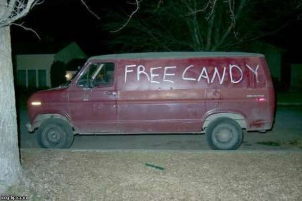 Free candy van | image tagged in free candy van | made w/ Imgflip meme maker