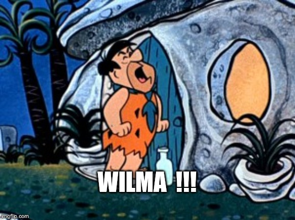 flintstone | WILMA  !!! | image tagged in flintstone | made w/ Imgflip meme maker