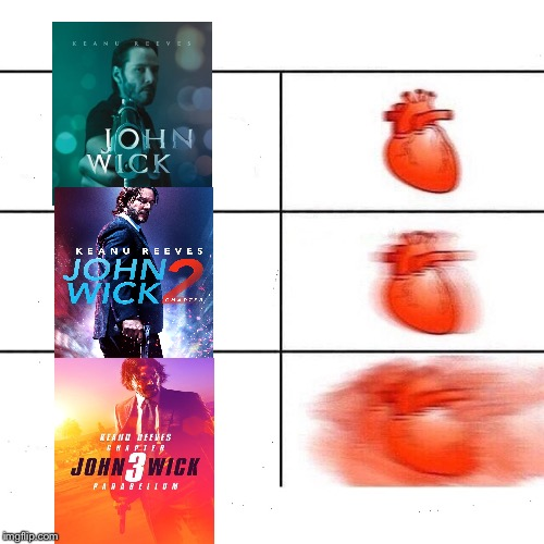 My heart is gonna go berzerk when the 4th one comes out | WHEN YOU'VE HAD YOUR HAND UP FOR20 MINUTES AND THE TEACHER DOESN'T PICK YOU | image tagged in my heart,john wick | made w/ Imgflip meme maker