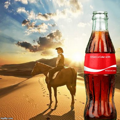America | image tagged in share a coke with,horse | made w/ Imgflip meme maker