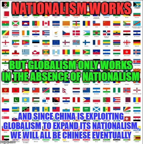You wont know what you've lost till it's gone | NATIONALISM WORKS BUT GLOBALISM ONLY WORKS IN THE ABSENCE OF NATIONALISM AND SINCE CHINA IS EXPLOITING GLOBALISM TO EXPAND ITS NATIONALISM,  | image tagged in united nations,globalism,george soros,china,idiots,socialism | made w/ Imgflip meme maker