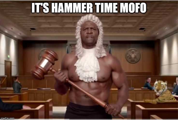 terry crews hammer | IT'S HAMMER TIME MOFO | image tagged in terry crews hammer | made w/ Imgflip meme maker