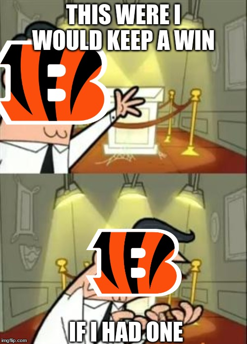 This Is Where I'd Put My Trophy If I Had One |  THIS WERE I WOULD KEEP A WIN; IF I HAD ONE | image tagged in memes,this is where i'd put my trophy if i had one,bengals,nfl,afc north | made w/ Imgflip meme maker