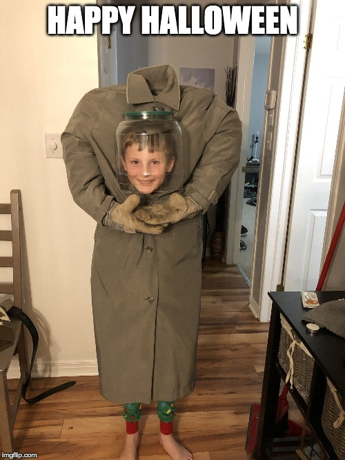 cool costume! | HAPPY HALLOWEEN | image tagged in happy halloween,halloween is coming,halloween costume | made w/ Imgflip meme maker