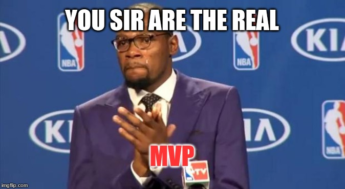You The Real MVP Meme | YOU SIR ARE THE REAL MVP | image tagged in memes,you the real mvp | made w/ Imgflip meme maker