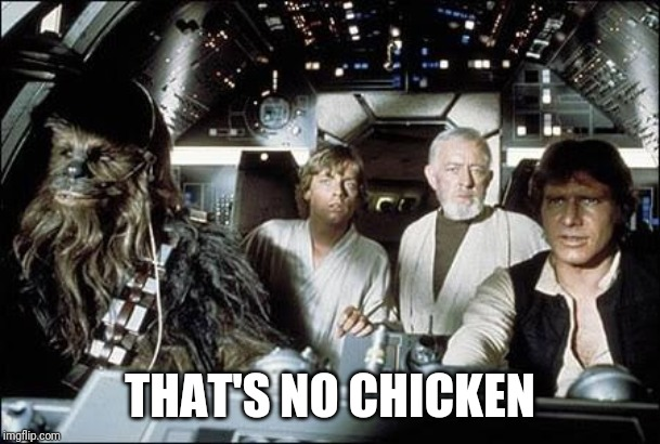 That's no moon | THAT'S NO CHICKEN | image tagged in that's no moon | made w/ Imgflip meme maker