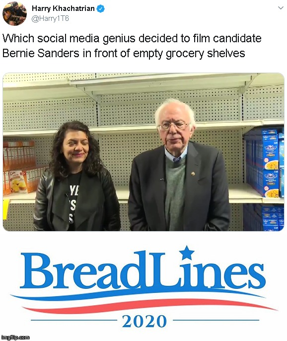 Epic Placement Fail | image tagged in memes,bernie sanders,2020 elections,rashida tlaib | made w/ Imgflip meme maker