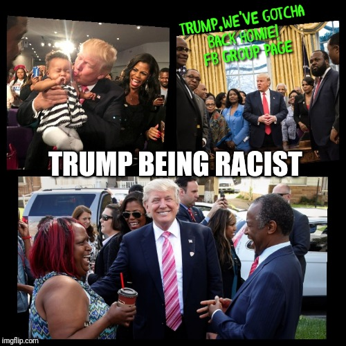 Trump Being Racist |  TRUMP BEING RACIST | image tagged in donald trump,racism,blacks,african americans,ben carson,black lives matter | made w/ Imgflip meme maker