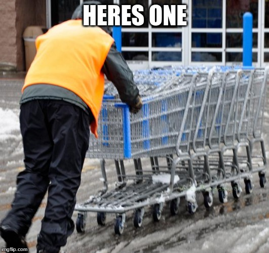 Shopping Cart Soldier | HERES ONE | image tagged in shopping cart soldier | made w/ Imgflip meme maker