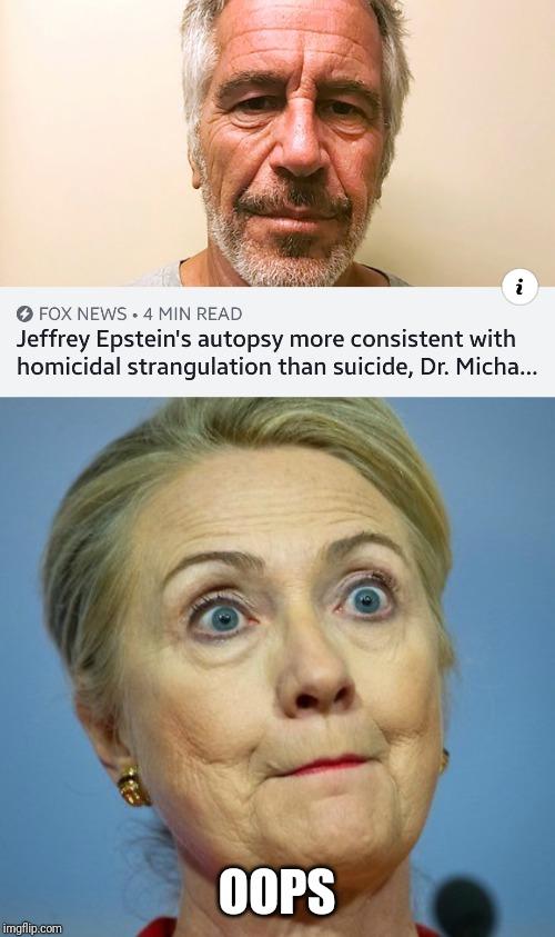Hillary Strangling Epstein Meme