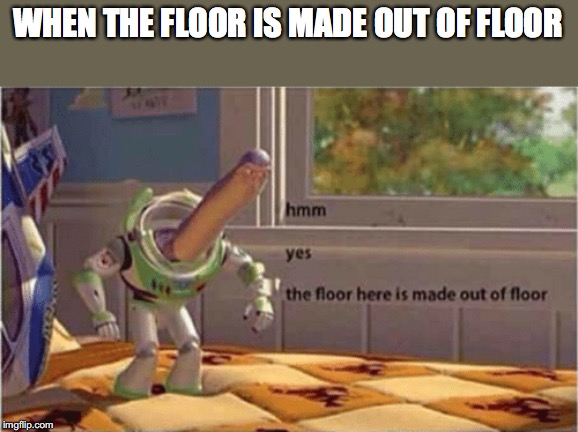 hmm yes the floor here is made out of floor | WHEN THE FLOOR IS MADE OUT OF FLOOR | image tagged in hmm yes the floor here is made out of floor | made w/ Imgflip meme maker